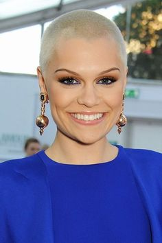 Jessie J's still rocking that blonde buzz cut - when she looks this edgy who can blame her.
