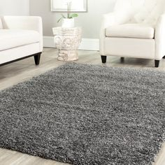 Safavieh Cozy Solid Dark Grey Shag Rug - Overstock™ Shopping - Great Deals on Safavieh 7x9 - 10x14 Rugs