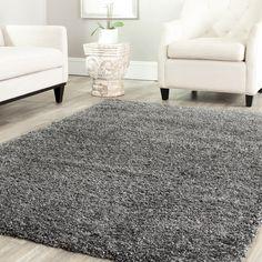 Safavieh Cozy Solid Dark Grey Shag Rug - Overstock™ Shopping - Great Deals on Safavieh 7x9 - 10x14 Rugs