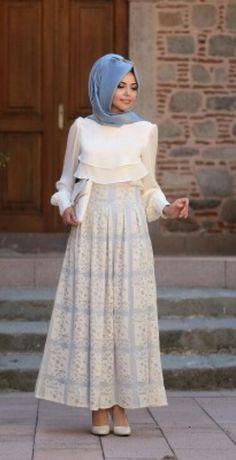 Hijab fashion   Maxi dress and maxi skirt For Hijab Fashion