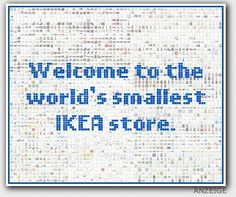 Very fresh and innovative idea to use a simple online banner to the fullest: The World's Tiniest IKEA Store measures 300 x 250 pixels