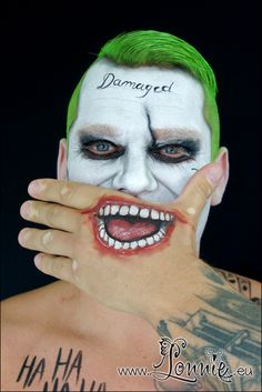 The joker from suicide squad. Face paint. Ansigtsmaling