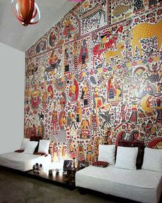 Madhubani wall art Indian homes. - Migno Decor - Incredible Madhubani wall art Indian homes.