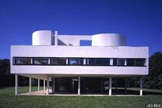 Villa Savoie en Poissy cerca de Paris. Le Corbusier.