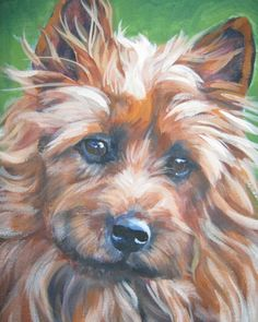Australian Terrier art print CANVAS print of LA Shepard painting 8x10 About the Print: This open edition image measures 8x10 inches and is