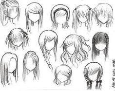 manga hair -
