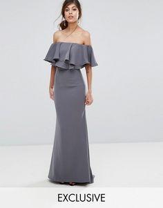 e88ed4f17680 Jarlo Off Shoulder Maxi Dress With Frill Top. Vestiti Alla ModaAbiti ...
