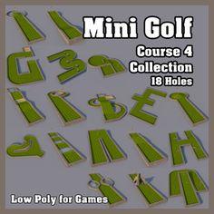 Mini Golf Course 4 Collection Model in Sports Equipment Famous Golf Courses, Public Golf Courses, Putt Putt Golf, Augusta Golf, Golf Course Reviews, Crazy Golf, Miniature Golf, Perfect Golf, Golf Humor