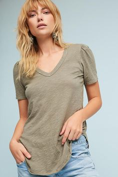 Outfield V-Neck Tee   Anthropologie