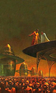 The Gods of Foxcroft // Bruce Pennington ****Nathan Walsh's Dark Science Fiction… Fantasy World, Science Fiction Art, Retro Futuristic, Science Fiction Artwork, Fantasy Art, Painting, Sci Fi Fantasy, Art, Space Art