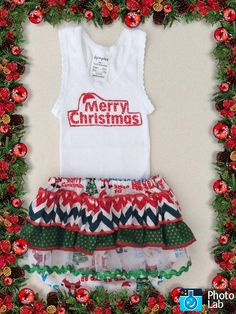 Colour me Christmas Ruffled Bum Diaper Cover Set Size 1 (12 to 18 months) by Ozbods on Etsy