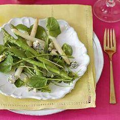 Asparagus and Spring Greens Salad with Gorgonzola Vinaigrette