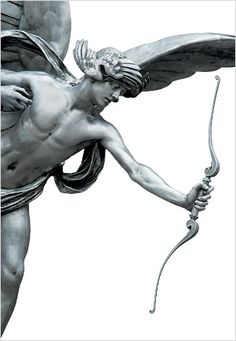 Eros. god of love. His counterpart is Cupid (desire). Greek mythology.