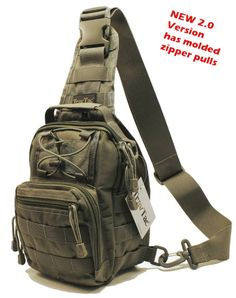 COMPACT * RUGGED * VERSATILE This small 'Goes Anywhere' Sling Pack is Perfect Where larger packs are Too Big, Too Bulky, Too Heavy. The handy 3-Way Design (