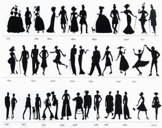 The History of fashion, via silhouettes, where do you fit in?
