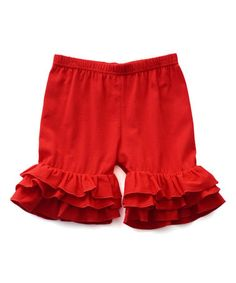 Look what I found on #zulily! Red Ruffle Pants - Infant, Toddler & Girls #zulilyfinds
