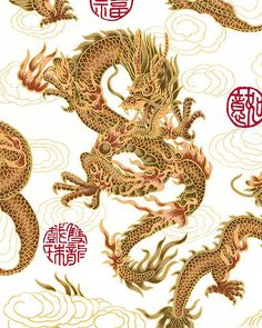 Elemental Dragon - White/Gold