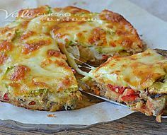 Pie with vegetables and mozzarella / Torta di verdure e mozzarella Vegetable Recipes, Vegetarian Recipes, Cooking Recipes, Healthy Recipes, Antipasto, Frittata, Italian Recipes, Love Food, Food Porn