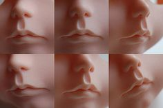 Carving #7 (simply hagata) Tags: nose carved mod doll carving lips lip blythe…