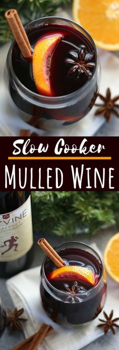 Slow Cooker Mulled Wine #drinks #cocktails #alcohol #wine #christmas