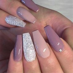 Two Color Nail Designs Ideas 73 most eye catching different color coffin nails for prom Two Color Nail Designs. Here is Two Color Nail Designs Ideas for you. Two Color Nail Designs 73 most eye catching different color coffin nails for pro. Summer Acrylic Nails, Best Acrylic Nails, Acrylic Nails Glitter, Acrylic Tips, Cute Summer Nails, Cute Nails, Pink Nails, Gel Nails, Nail Polish