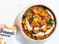 Sweet Potato Curry, Fresh Coriander, Garam Masala, Lentils, Spinach, Stuffed Peppers, Meals, Cooking, Healthy