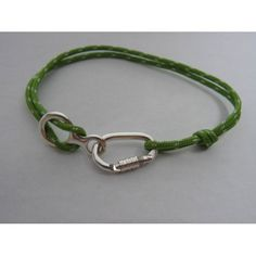 Bracelet With Functional Locking Carabiner and Figure 8