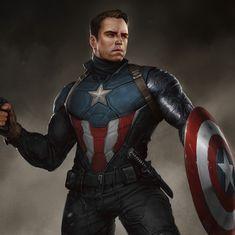 ArtStation - Bucky Barnes Captain America (Heroic suit), Ivan Dedov