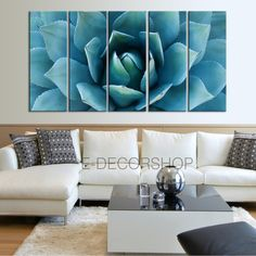 Large Wall Art Blue Agave Flower Canvas Prints For Wall - Blue Agave Large Art Canvas Printing - Wall Art Canvas Large Wall Prints, Large Canvas Wall Art, Extra Large Wall Art, Large Art, Canvas Art Prints, Acrylic Paintings, Flower Painting Canvas, Painting Art, Sunset Canvas