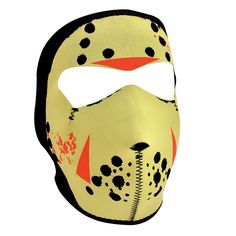 Jason face mask features full coverage of the face and ears with stretchy, warm and water resistant 2mm thick neoprene