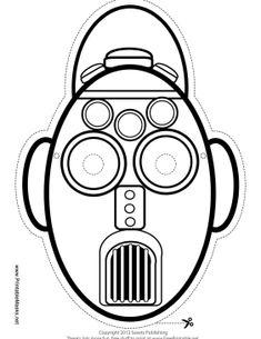 free printable robot mask masks printable pinterest free