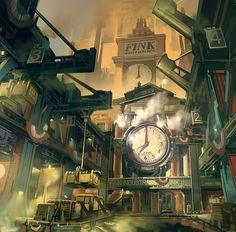 Steampunk Tendencies | Bioshock Infinite - Early Finkton concept - Ben Lo