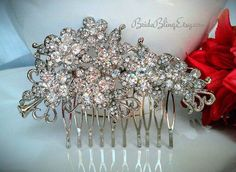 Bridal hair comb Crystal hair comb Rhinestone hair by BrideBling, $50.00