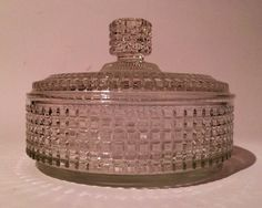Vintage Candy Trinket Powder Glass Box on Etsy, $25.00