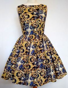 Doctor Who Fabric Dress Van Gogh Exploding Tardis by Frockasaurus