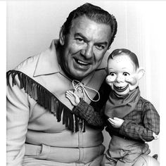 Buffalo Bob & Howdy Doody, one of our early childhood TV show favorites!