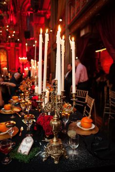 Gothic inspired reception // photo by Photo Pink NYC // http://ruffledblog.com/dracula-inspired-halloween-wedding