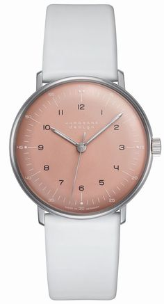 Max Bill Hand Winding 027/3601.00, polished stainless-steel case rose dial