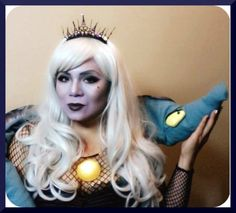 Pin for Later: Killer Costume Idea: Ursula the Sea Witch Ursula Makeup, Diy Ursula Halloween Costume, Halloween Make Up, Ursela Costume, Sea Witch Costume, Mermaid Crown, Beauty First, Diy Costumes, Dance Costumes