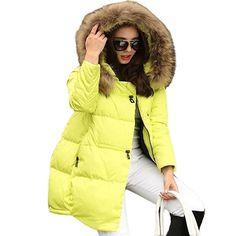41.24$  Watch now - http://ali0fs.worldwells.pw/go.php?t=32697571783 - new 2016 winter warm down Cotton jacket Women Faux fur collar Thick Slim hooded plus size Long down jacket Coat 41.24$