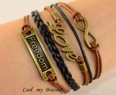 Personalization infinite freedom charm bracelet by Coolmybracelet, $5.99