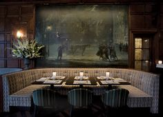 The Oak Room in New York City (In the Plaza Hotel)...brings backs the best memories of NYC with my family on my 25th birthday...happiness:)