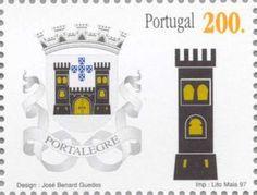 Sello: Portalegre (Portugal) (District Coat of Arms) Mi:PT 2212,Yt:PT 2190,Afi:PT 2444