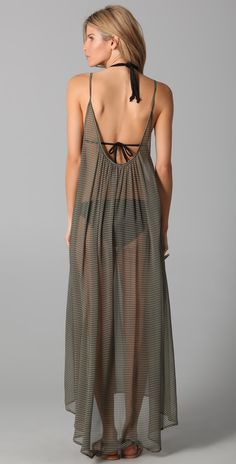 MIKOH Sardinia Long Silk Cover Up Dress | SHOPBOP