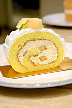 Peach Roll Cake @ Fine Foods