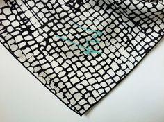 Black  White printed silk woman scarf. Summer por marlenehuissoud, $129.00