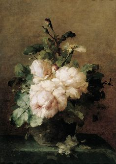 A still life with roses, Margaretha Roosenboom. Dutch (1843 - 1896)♥