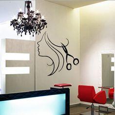 Wall decal decor decals art hair salon curl by DecorWallDecals, $28.99