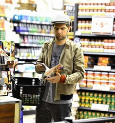Adam Scott at the market...