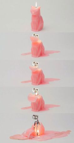 Cat Candles Skeleton